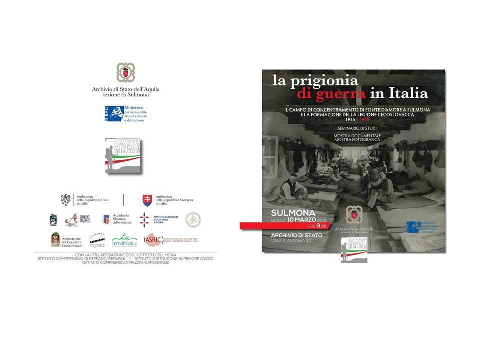 locandina la prigionia di guerra - fronte