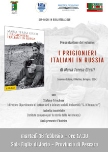 "Locandina volume ""I PRIGIONIERI ITALIANI IN RUSSIA"""
